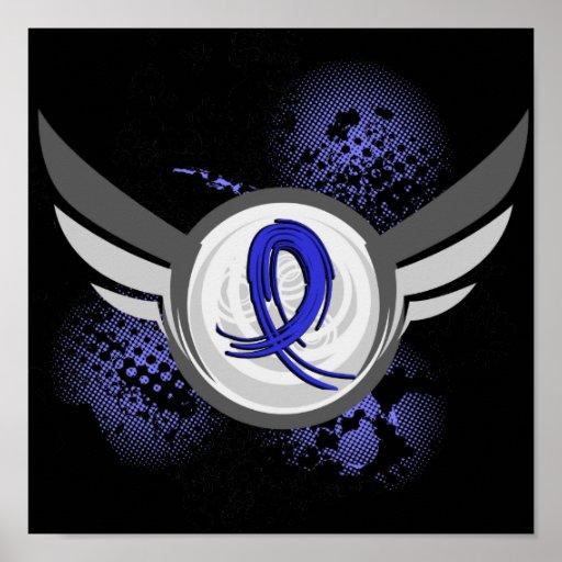 Blue Ribbon con las alas CFS Impresiones