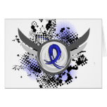 Blue Ribbon con las alas CFS Tarjeta
