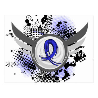 Blue Ribbon con las alas CFS Tarjetas Postales