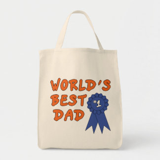 Blue Ribbon Dad Grocery Tote Bag