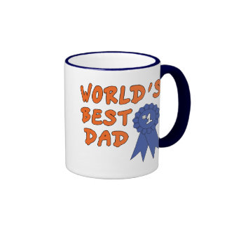 Blue Ribbon Dad Mug