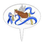 """""""Blue Ribbon"""" del ángel de la conciencia Figuras Para Tartas"""