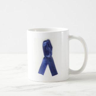 Blue ribbon fibromyalgia coffee mug