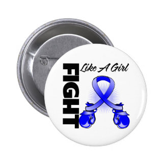 Blue Ribbon Fight Like A Girl 2 Inch Round Button