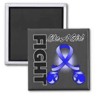 Blue Ribbon Fight Like A Girl Magnet