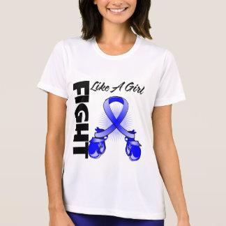 Blue Ribbon Fight Like A Girl Shirts