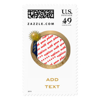 Blue Ribbon For #1 Dad on Father's Day Frame Postage Stamp