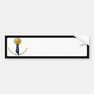 Blue Ribbon For Dad on Father's Day Car Bumper Sticker