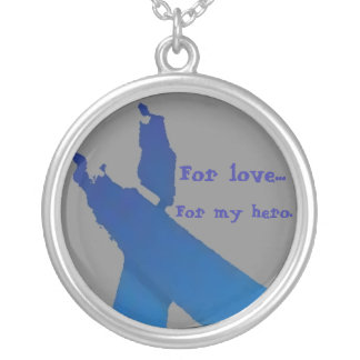 Blue Ribbon hero Necklace