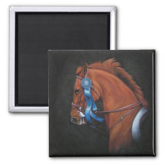 blue ribbon horse magnet - Omar Shariff