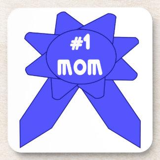 Blue Ribbon Mom #1 Beverage Coaster