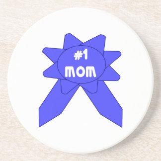 Blue Ribbon Mom #1 Drink Coaster