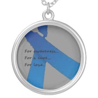 Blue Ribbon Necklace