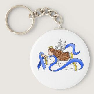 """Blue Ribbon"" of Awareness Angel Keychain"