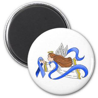 """Blue Ribbon"" of Awareness Angel Magnet"