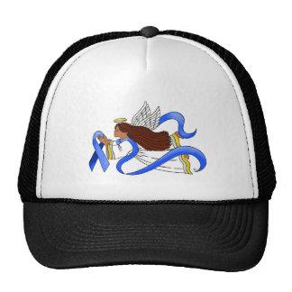 """Blue Ribbon of Awareness""  Ethnic Angel Trucker Hat"