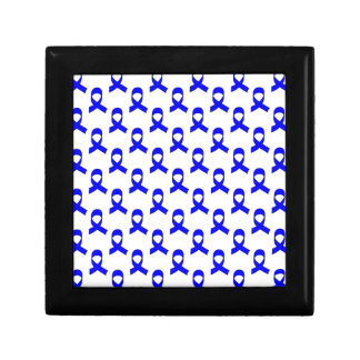 Blue Ribbon Pattern Keepsake Box