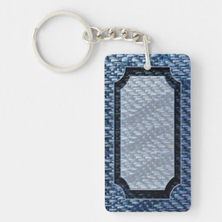 Blue Ribbon Pattern Keychain