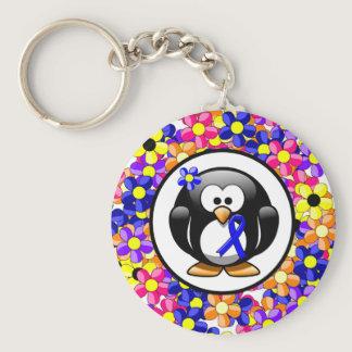 Blue Ribbon Penguin Keychain