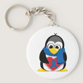 Blue Ribbon Penguin Scarf Keychain