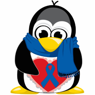 Blue Ribbon Penguin Scarf Statuette