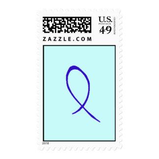 Blue Ribbon Postage Stamp