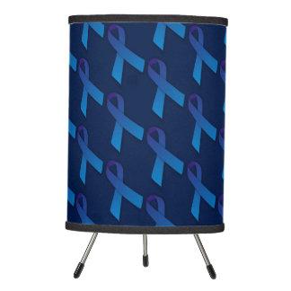 Blue Ribbon Pro-Choice Awareness Tripod Lamp