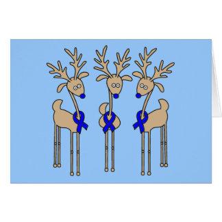 Blue Ribbon Reindeer Card