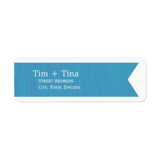 Blue Ribbon Return Address Label