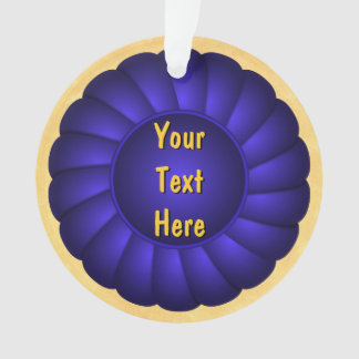Blue Ribbon Rosette to Personalize