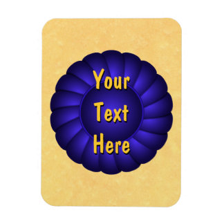 Blue Ribbon Rosette to Personalize Magnet