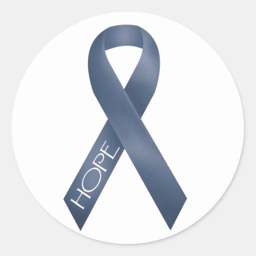 Blue Ribbon Round Sticker