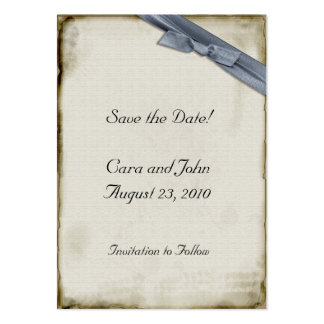 Blue Ribbon Save the Date Large Business Cards (Pack Of 100)