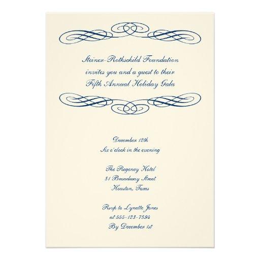 Formal invitation card template script corporate formal gala event 57 paper invitation card zazzle stopboris Images