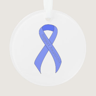 Blue Ribbon Support Awareness Ornament
