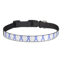 Blue Ribbon Support Awareness Pet Collar