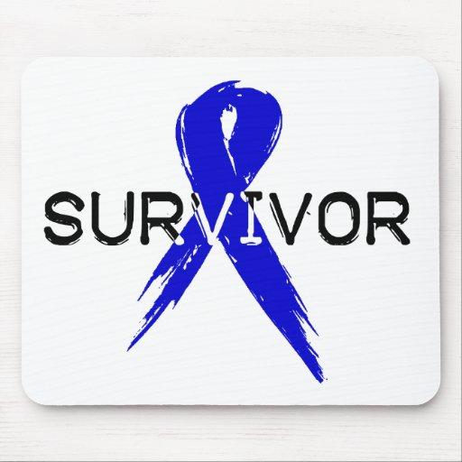 Blue Ribbon Survivor Mouse Pad