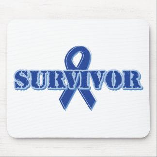 Blue Ribbon - Survivor Mouse Pad