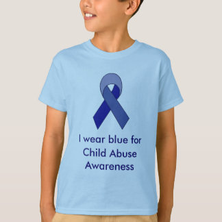 Blue ribbon symbol to support your cause teeshirt T-Shirt