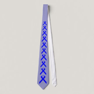 Blue Ribbon Tie . Colon cancer  and child abuse.