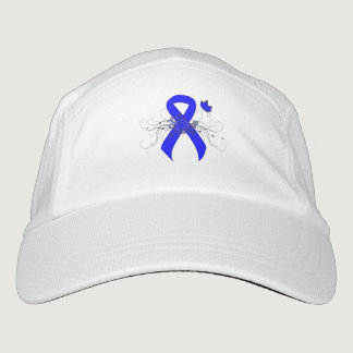 Blue Ribbon with Butterfly Headsweats Hat