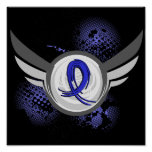 Blue Ribbon With Wings Ankylosing Spondylitis Posters
