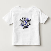 Blue Ribbon With Wings Ankylosing Spondylitis Toddler T-shirt