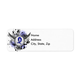Blue Ribbon With Wings Arthritis Label