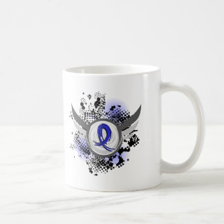 Blue Ribbon With Wings Arthritis Classic White Coffee Mug