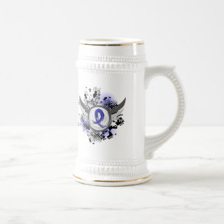Blue Ribbon With Wings Arthritis 18 Oz Beer Stein