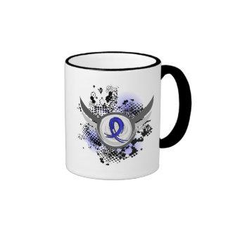 Blue Ribbon With Wings Arthritis Ringer Coffee Mug