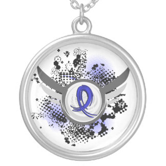 Blue Ribbon With Wings CFS Jewelry