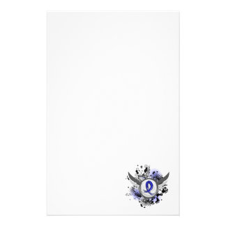 Blue Ribbon With Wings CFS Custom Stationery