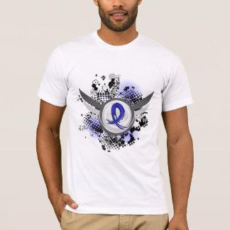 Blue Ribbon With Wings Huntington's Disease T-Shirt